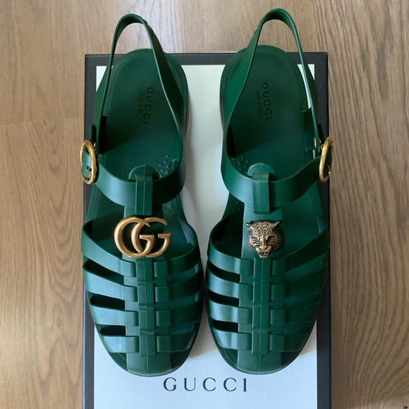 Gucci Shoes | Gucci Rubber Buckle Strap